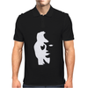 Sax Player Lady face Optical Illusion Mens Polo