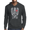Scary Halloween X-Ray costume candy Mens Hoodie