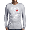 Scary Halloween X-Ray costume candy Mens Long Sleeve T-Shirt
