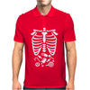 Scary Halloween X-Ray costume candy Mens Polo