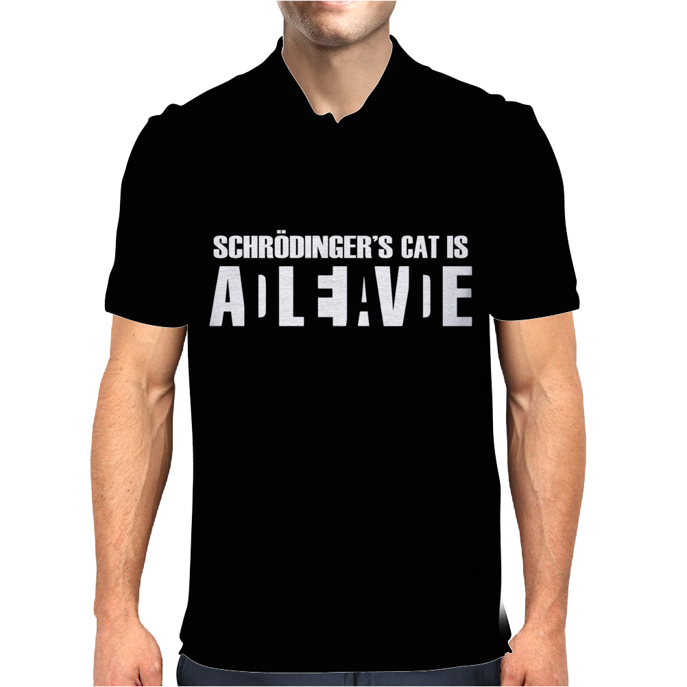 Schrodingers Cat Mens Polo