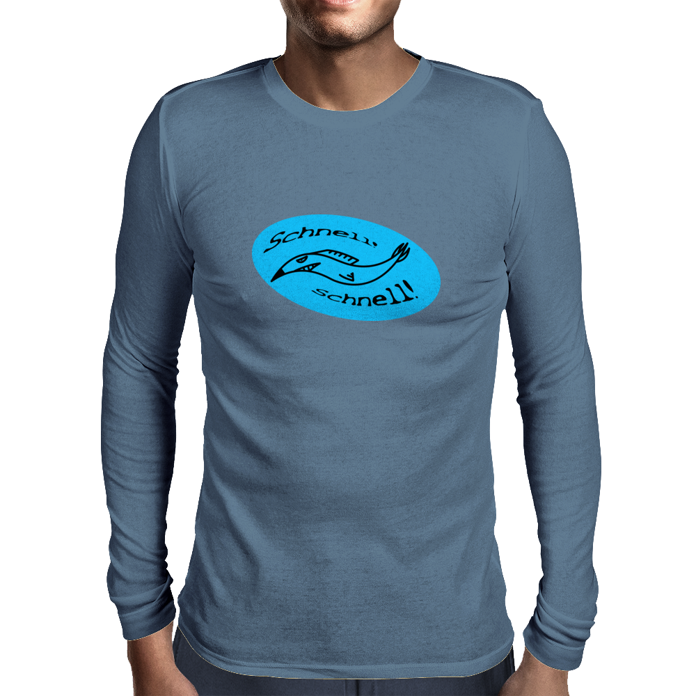 Scnhell, scnell! fish BLUE Mens Long Sleeve T-Shirt