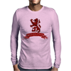 Scotland Red Lion Rampant with Scroll Mens Long Sleeve T-Shirt