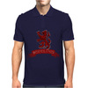 Scotland Red Lion Rampant with Scroll Mens Polo