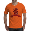 Scotland Red Lion Rampant with Scroll Mens T-Shirt