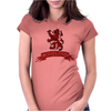 Scotland Red Lion Rampant with Scroll Womens Fitted T-Shirt