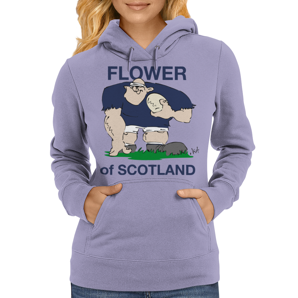 Scotland Rugby Forward World Cup Womens Hoodie