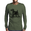 Scottish Terrier, Dog Breed Illustration Mens Long Sleeve T-Shirt