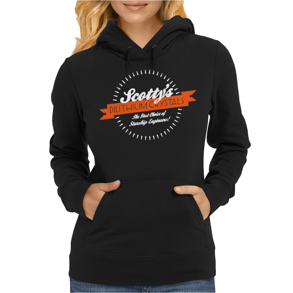 Scotty's Dilithium Crystals Enterprise Womens Hoodie