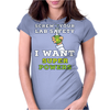 Screw Your Lab Safety I Want Super Powers Womens Fitted T-Shirt
