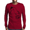 Seahorse with hat Mens Long Sleeve T-Shirt