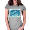 Seashell on the beach Womens Fitted T-Shirt