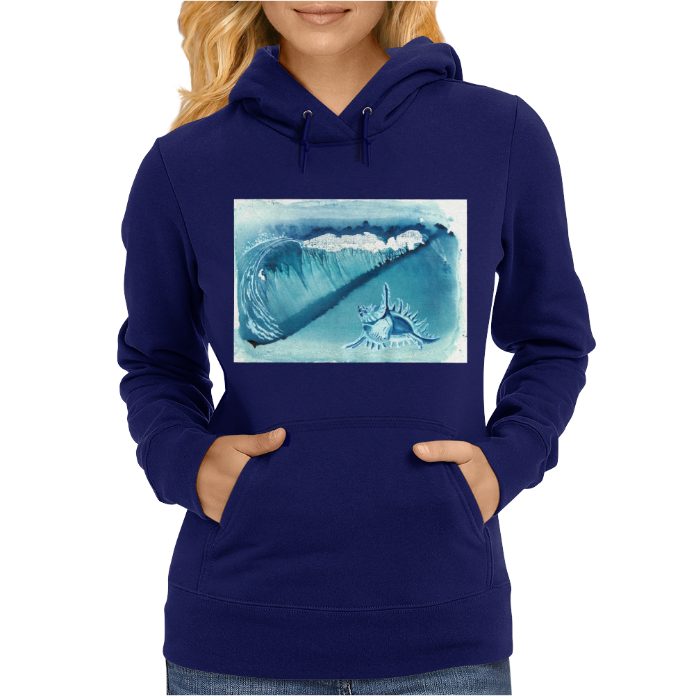 Seashell on the beach Womens Hoodie