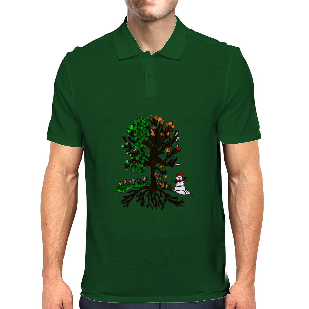 Seasonal Tree Mens Polo