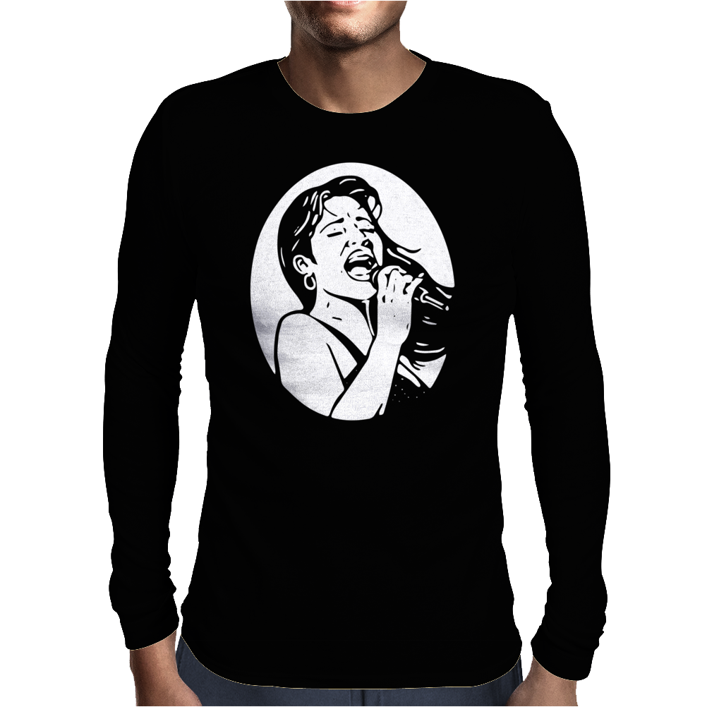 Selena Mens Long Sleeve T-Shirt