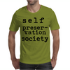 Self Preservation Society Black Mens T-Shirt