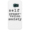 Self Preservation Society Black Phone Case