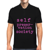 Self Preservation Society Pink Mens Polo