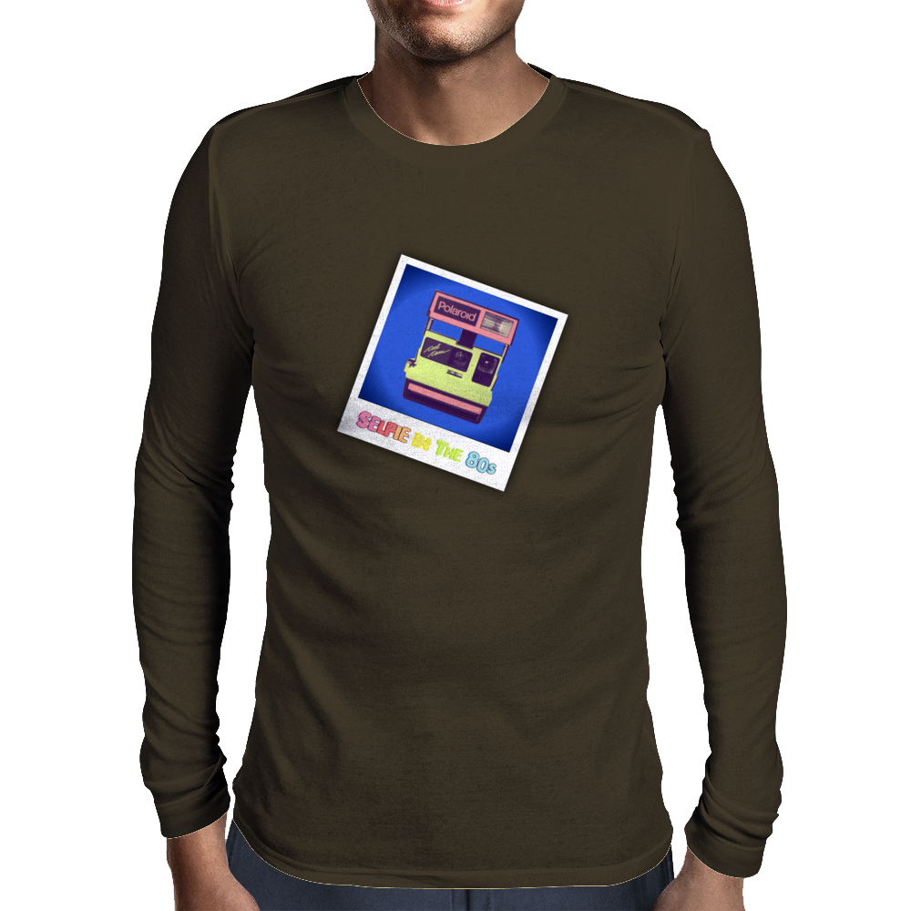 Selfie in the 80s Mens Long Sleeve T-Shirt