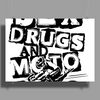 Sex drugs and motorcycles Poster Print (Landscape)
