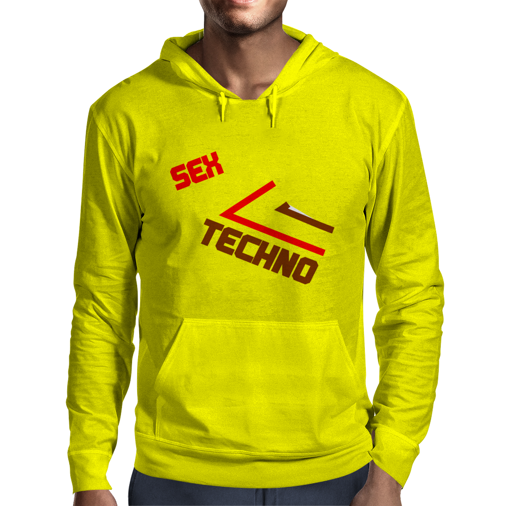 Sex Drugs Techno Mens Hoodie