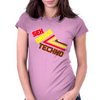 Sex Drugs Techno Womens Fitted T-Shirt
