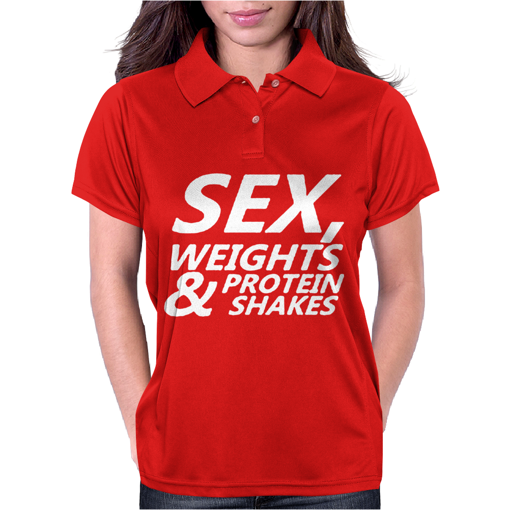 Sex Weights & Protein Shakes Womens Polo