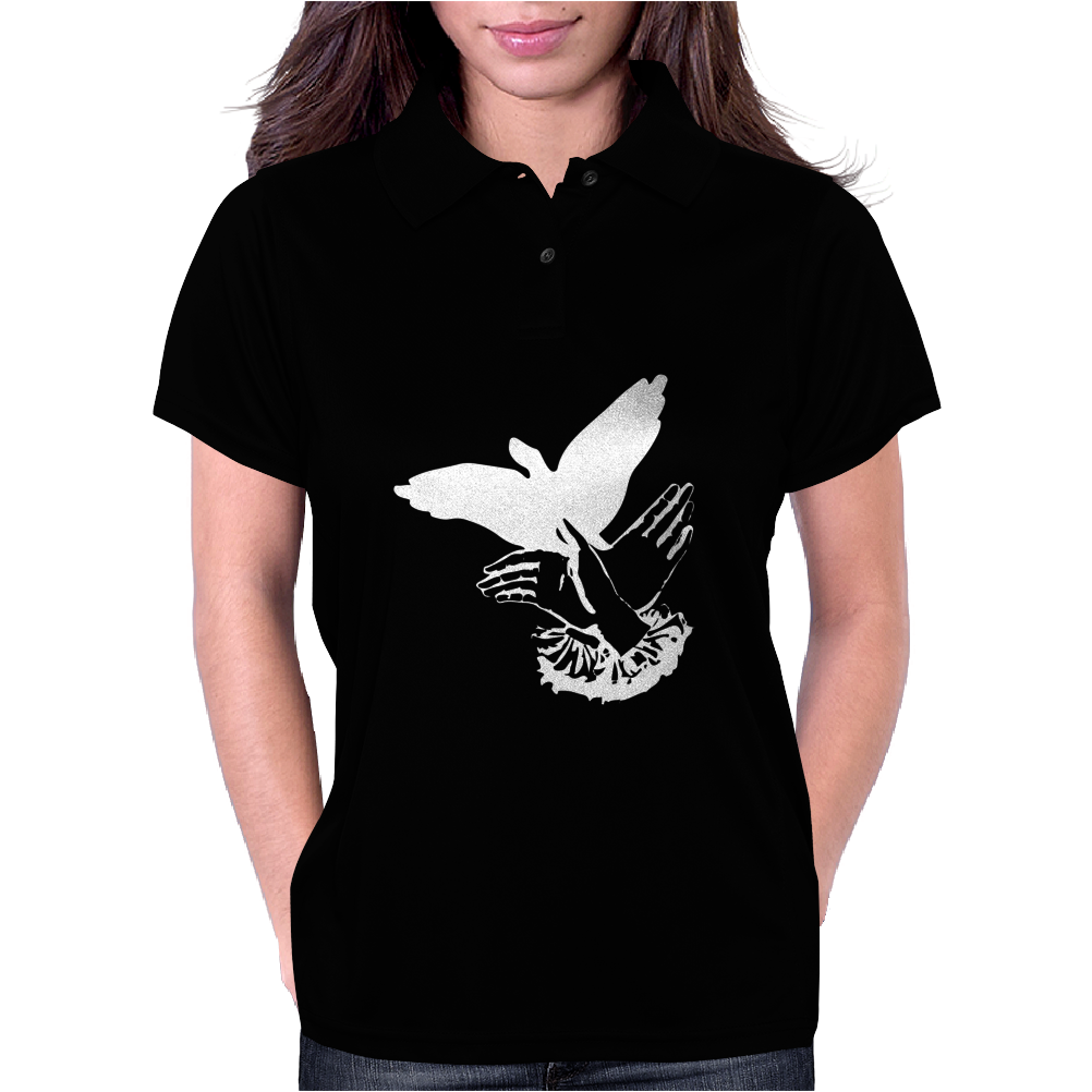 Shadowplay Bird Hands Womens Polo