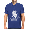 Shakespeare Beard Quote Much Ado About Nothing Mens Polo