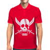 Shanks Flag One Piece T Red Haired Tee Pirate King Straw Hat Luffy Manga Mens Polo