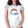 SHARK and RAINBOW Womens Fitted T-Shirt