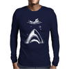 Shark Attack Swimmer Mens Long Sleeve T-Shirt