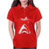 Shark Attack Swimmer Womens Polo
