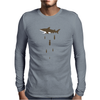 Shark Dropping Bombs Mens Long Sleeve T-Shirt