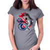 shark fighting Womens Fitted T-Shirt