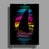 Shark In Colors Poster Print (Portrait)