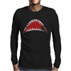 Shark Mouth Open Teeth Ocean Mens Long Sleeve T-Shirt