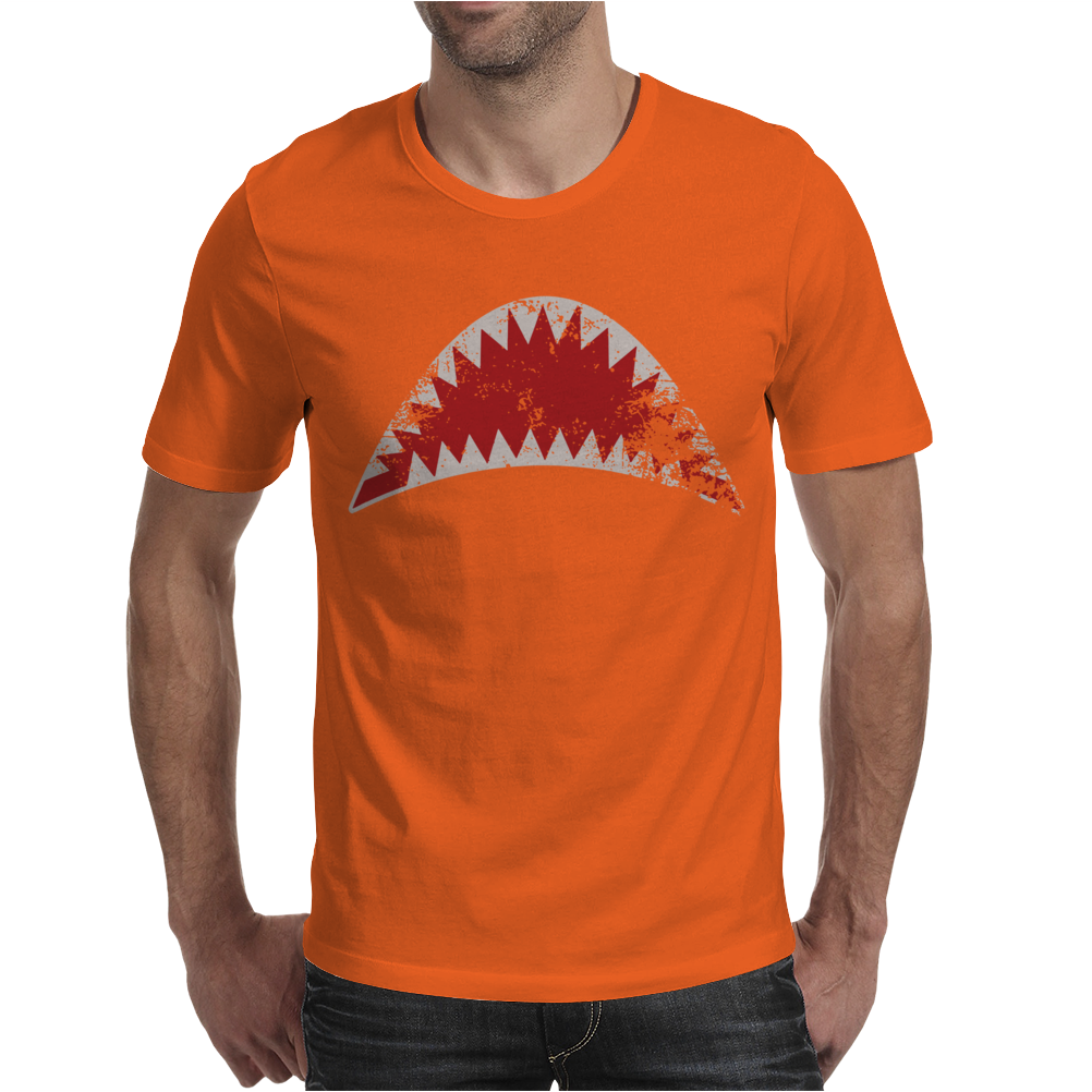 Shark Mouth Open Teeth Ocean Mens T-Shirt