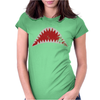 Shark Mouth Open Teeth Ocean Womens Fitted T-Shirt
