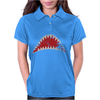 Shark Mouth Open Teeth Ocean Womens Polo