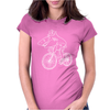 Shark Riding Bicycle Bike Funny Womens Fitted T-Shirt