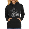 Shark Riding Bicycle Bike Funny Womens Hoodie