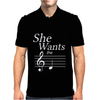 SHE WANTS THE D-BLACK- Mens Polo