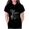 SHE WANTS THE D-BLACK- Womens Polo