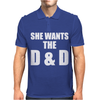 She Wants The D & D Mens Polo