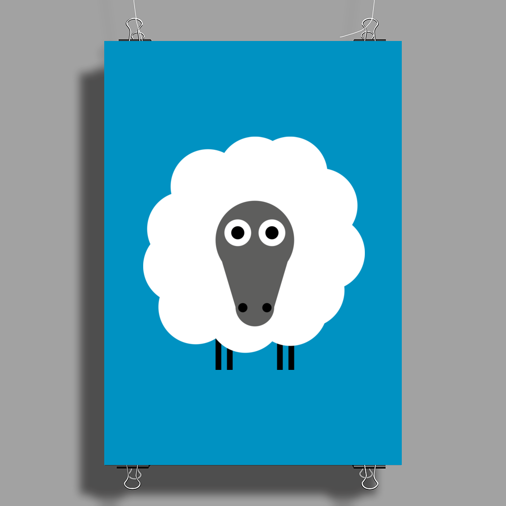 Sheep Poster Print (Portrait)