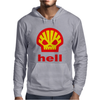 Shell Hell Protest Anti Oil Industry Fossil Mens Hoodie