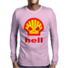 Shell Hell Protest Anti Oil Industry Fossil Mens Long Sleeve T-Shirt