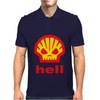 Shell Hell Protest Anti Oil Industry Fossil Mens Polo