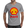 Shell Hell Protest Anti Oil Industry Fossil Mens T-Shirt
